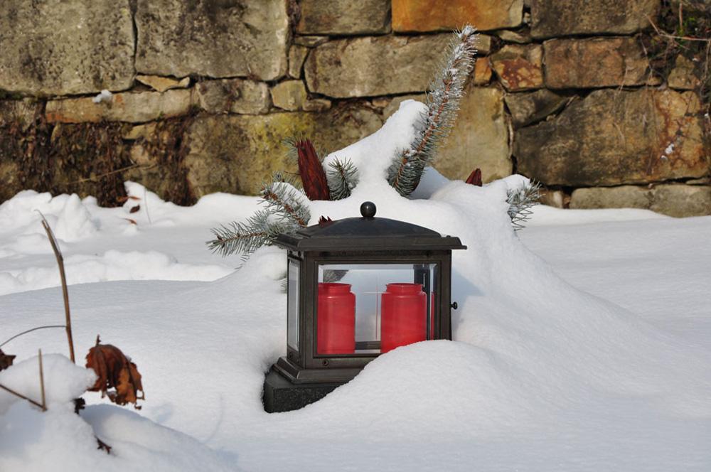 Friedhof im Schnee, Hausen a. d. Zaber