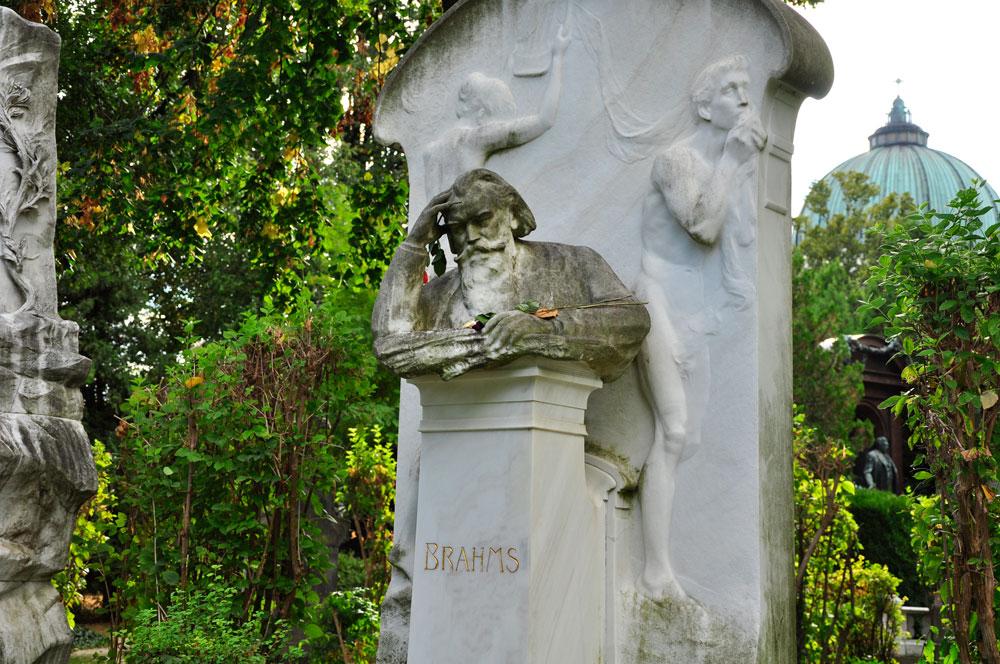 Zentralfriedhof Wien, Ehrengrab von Brahms