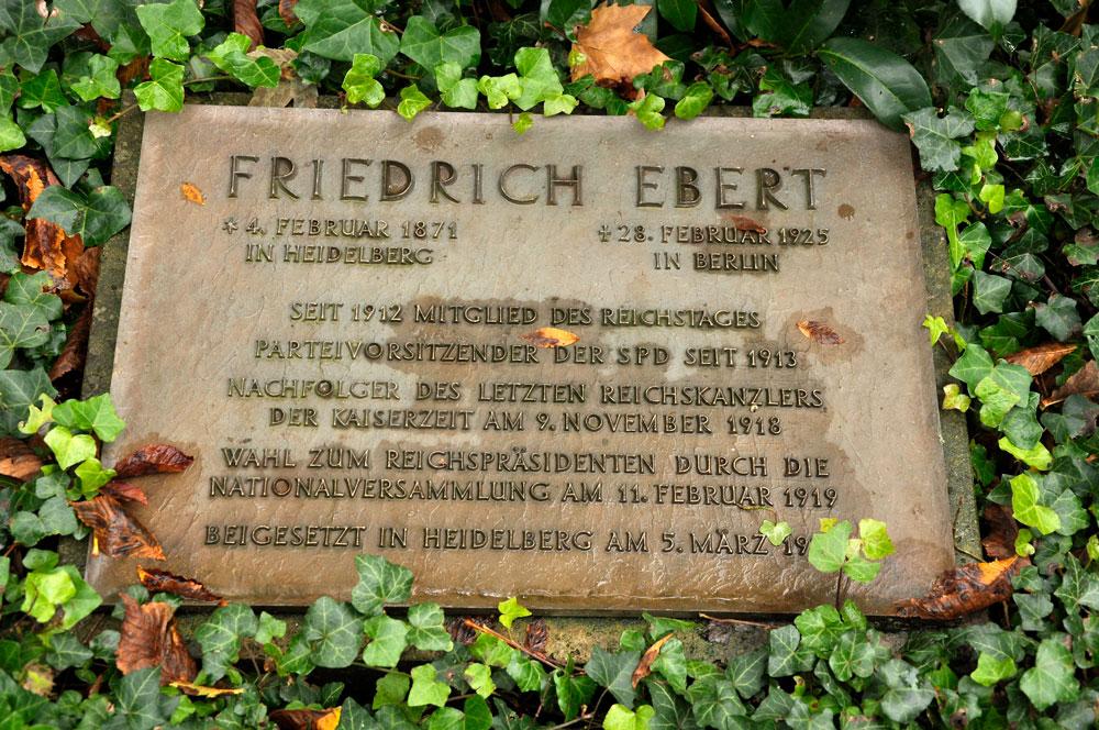 Bergfriedhof Heidelberg, Grabstätte Friedrich Ebert