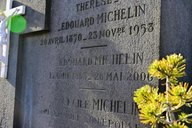 Grab Edouard Michelin, Friedhof Orcines, Frankreich
