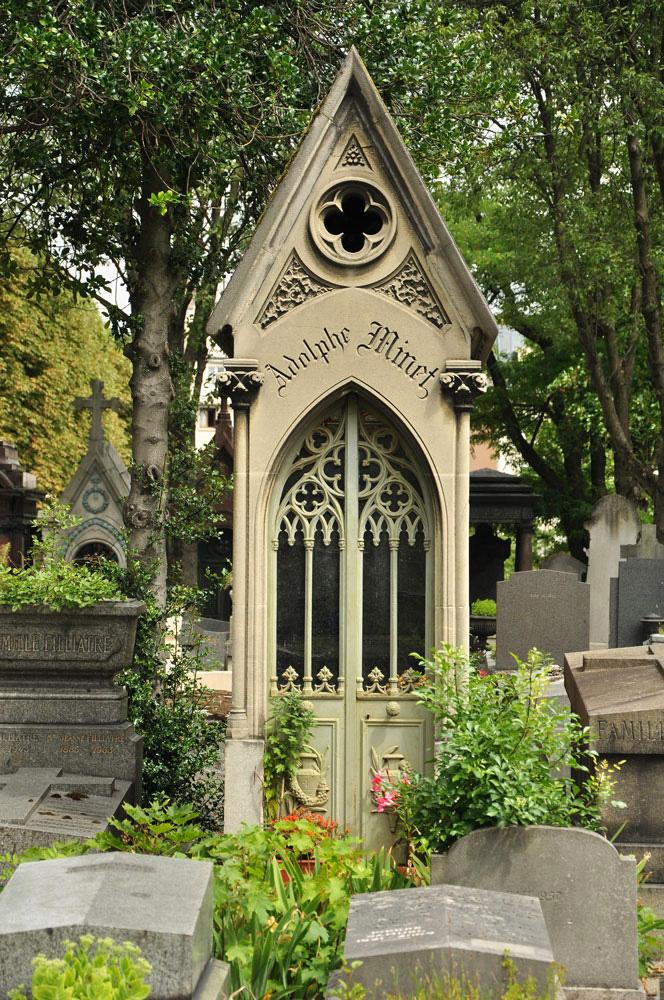 Friedhof Père-Lachaise, Paris, Frankreich, Adolphe Minet