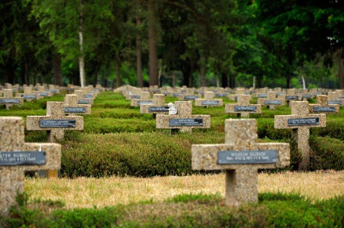Soldatenfriedhof in Lommel, Belgien